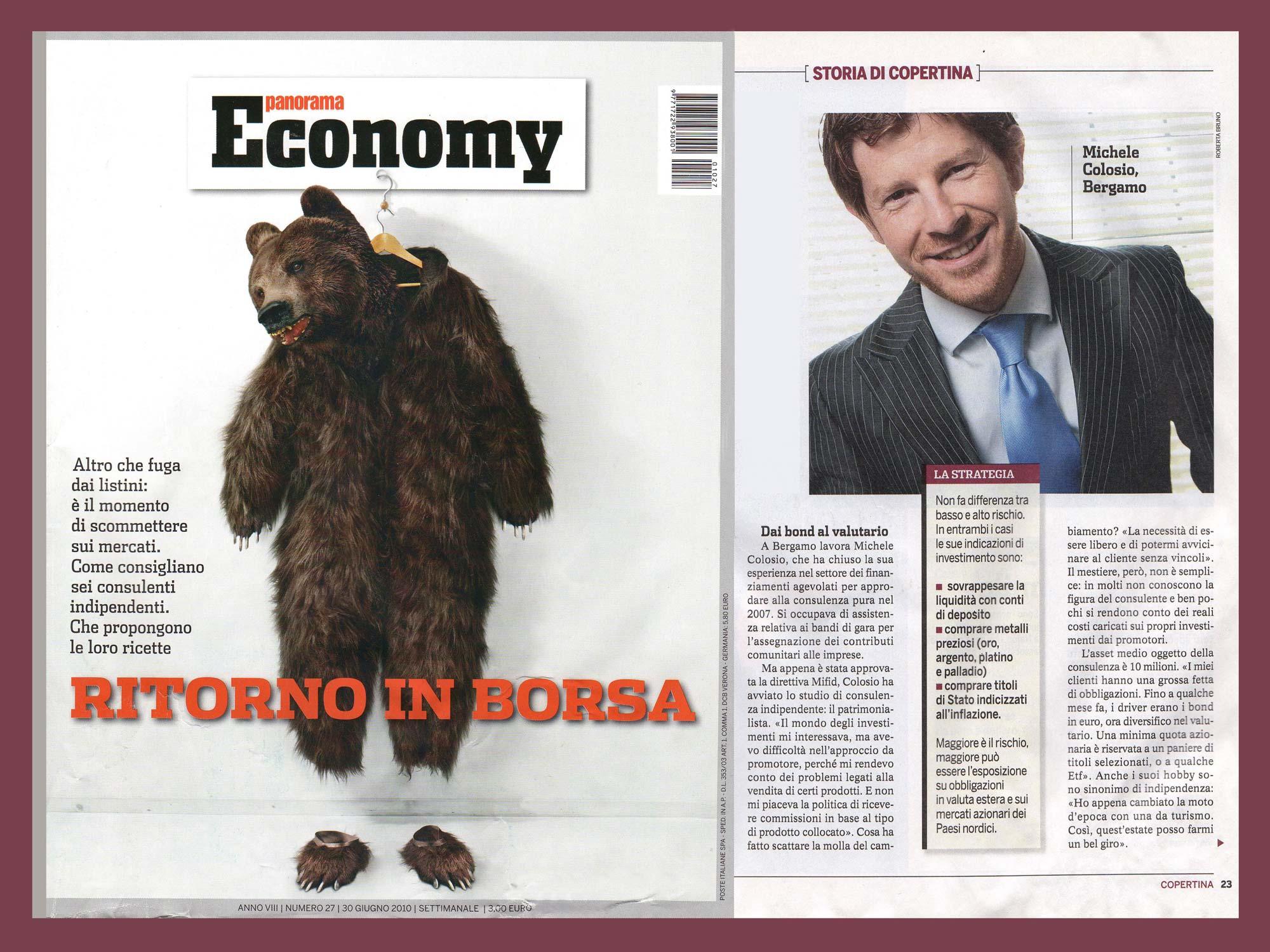 Michele Colosio intervistato per Economy, inserto di Panorama